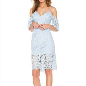 Bardot Karlie Sky Blue Lace Midi Dress